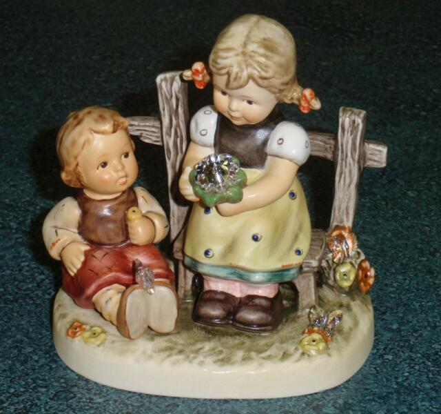 """Butterfly Wishes"" Goebel Hummel Figurine #2284 TMK8 Collectible GIFT WITH BOX!"
