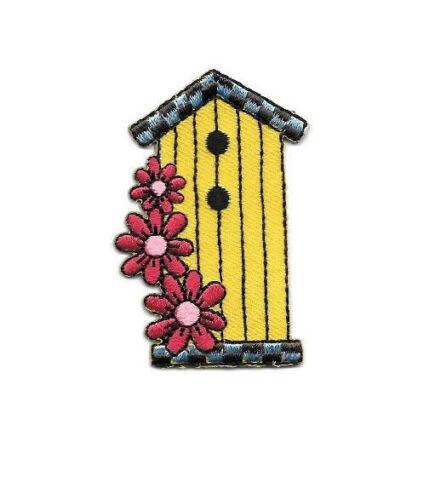 Birdhouse ~ Yellow Birdhouse W//Flowers Iron On Applique Patch