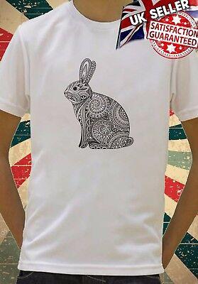 Rabbit Aztec Ethnic Drawing Art Cool Kids Boys Girls Unisex Top T-Shirt 601
