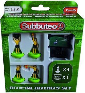 SUBBUTEO ARBITRO var CALCIO IN FIGURE miniatura arbitri Box Set gioco giocattolo