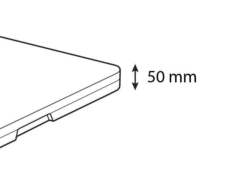 Klapbord, 244x76x74cm, Lysegrå (1 stk.)