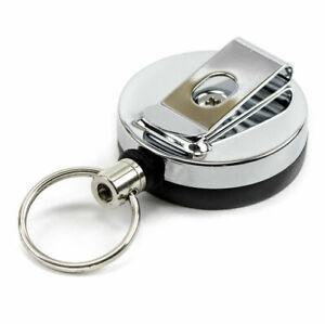 Small-Heavy-Duty-Retractable-Key-Chain-Metal-Pull-Ring-Badge-Reel-YoYo-Steel