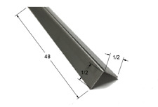 "5 Pk Galvanized 1//8/"" X 1 1//4/"" X 1 1//4/"" X 4/' Solid Steel Angle Iron N179960"