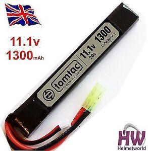 AIRSOFT-BATTERY-11-1V-20C-1300-MAH-LIPO-MINI-TAMIYA-TOMTAC