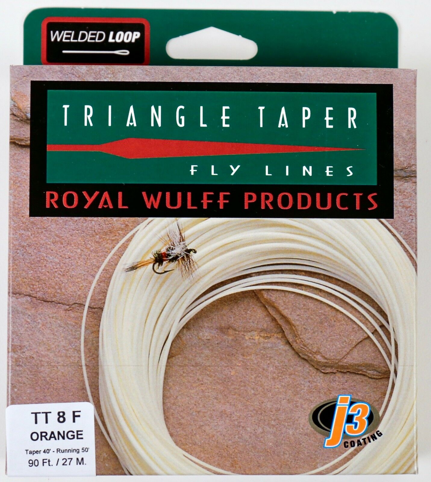 Royal Wulff Triangle Taper 8 WT Floating Fly Line Orange Free Fast Ship TT8FO