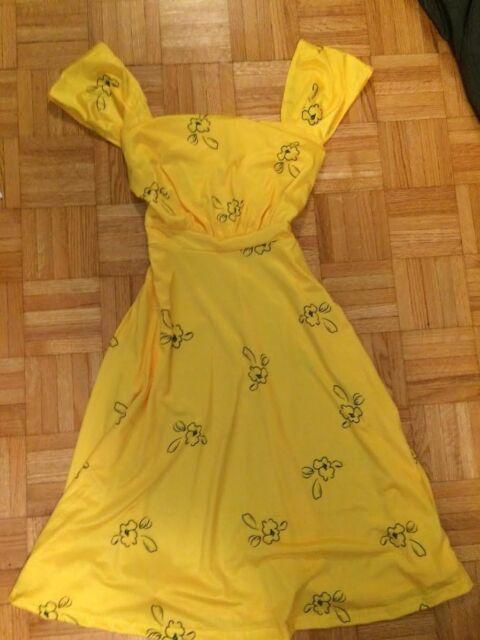 La La Land Mia Yellow Dress Cosplay Dress Size Medium