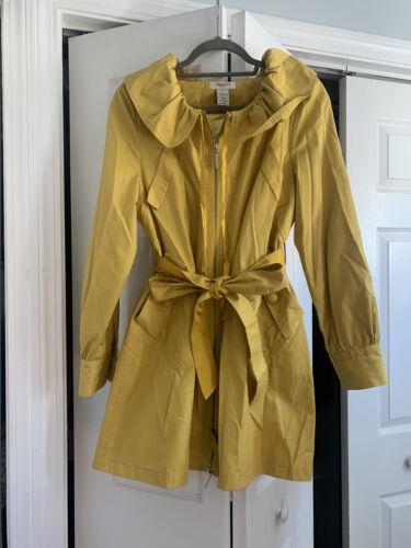 Vertigo Paris Women's Yellow Rain Coat Jacket Line
