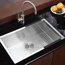 commercial stainless steel top mount kitchen sink 18 gauge single bowl     commercial stainless steel top mount kitchen sink 18 gauge single      rh   ebay com