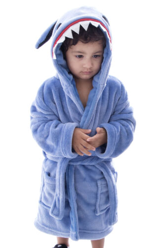 Kids Boys Girl Warm Animal Bath Robe Gown Nightwear Sleepwear Homewear Pajamas