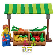 LEGO Market Shop - Fruit & Veg Greengrocer with minifigure. NEW