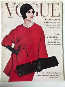 VTG Vogue Magazine October 1960 Fashion Irving Penn Cover Dior and More