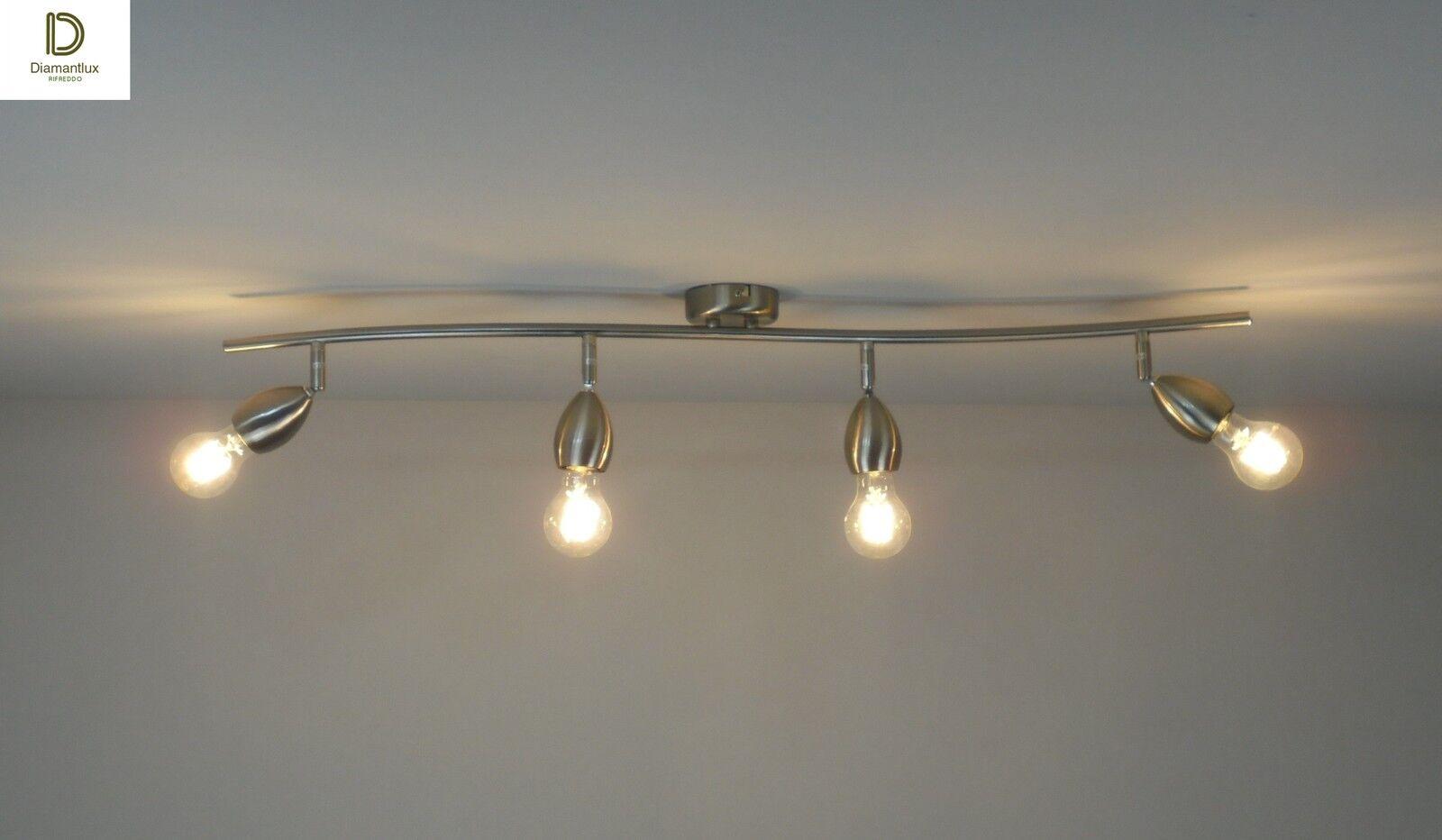 Plafoniere Bagno Moderno : Lampadario plafoniera design moderno cromo camera da letto salotto