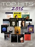 Top Hits Of 2016 Sheet Music Piano Vocal Guitar Songbook 000193869