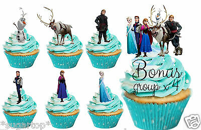 36 Disney Frozen STAND UPS Princesses Princes Olaf Sven Edible Cup Cake Toppers