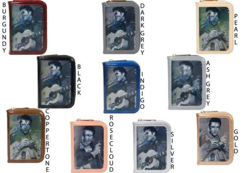 NUOVO Donna Superdry Donna Celebrita/' 3 D foto Borsetta Portafoglio Elvis Presley cantante