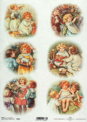 Rice Paper for Decoupage Scrapbook Sheet Craft Vintage Christmas Eve