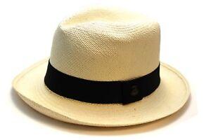 Cream Ecua sole da andino nero Cappello con Original Panama nastro Hat wwW6qISB