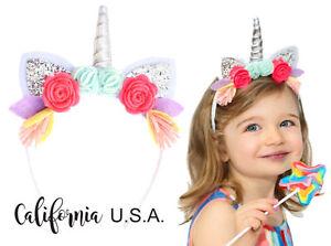 2f065145e86b Image is loading California-Tot-Toddler-Baby-Unicorn-Headband-Glitter-Ears-