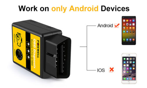 FOXWELL ELM327 OBD2 Bluetooth Car Diagnostic Scanner Tool Android Fits DODGE