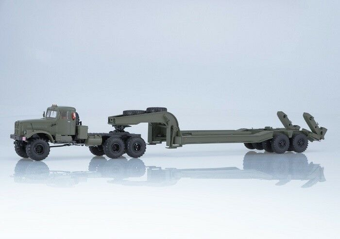 Start Scale Models (SSM) 1 43. KrAZ - 255V with Heavy Semitrailer chmzap - 5247G.