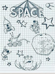 ART-PRINT-POSTER-PAINTING-DRAWING-DRAWING-COLLAGE-SPACE-ALIEN-THEME-LFMP1021