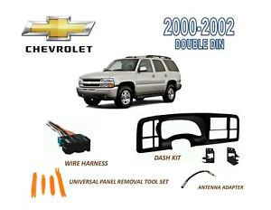 Image Is Loading 2000 2002 Chevrolet Tahoe Double Din Dash Install