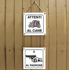 Attenti al cane e al padrone Attenti al cane Targa cane cartello ceramic tiles