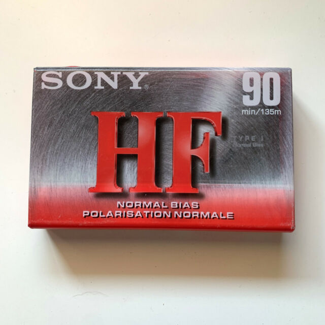 Sony HF 90 Minute Cassette Tape NEW Normal Bias C-90HFC - Brand New