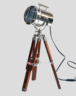 Vintage Home & Office LED Desk Lamp Tripod Spot Lover Night Lamp Electric Plug