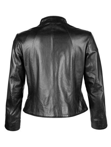 Marken Leder Jacke schwarz Gr 40 0518190736