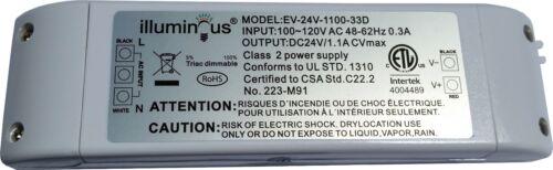 24V 26W Dimmable CV DC LED Driver ETL UL approved