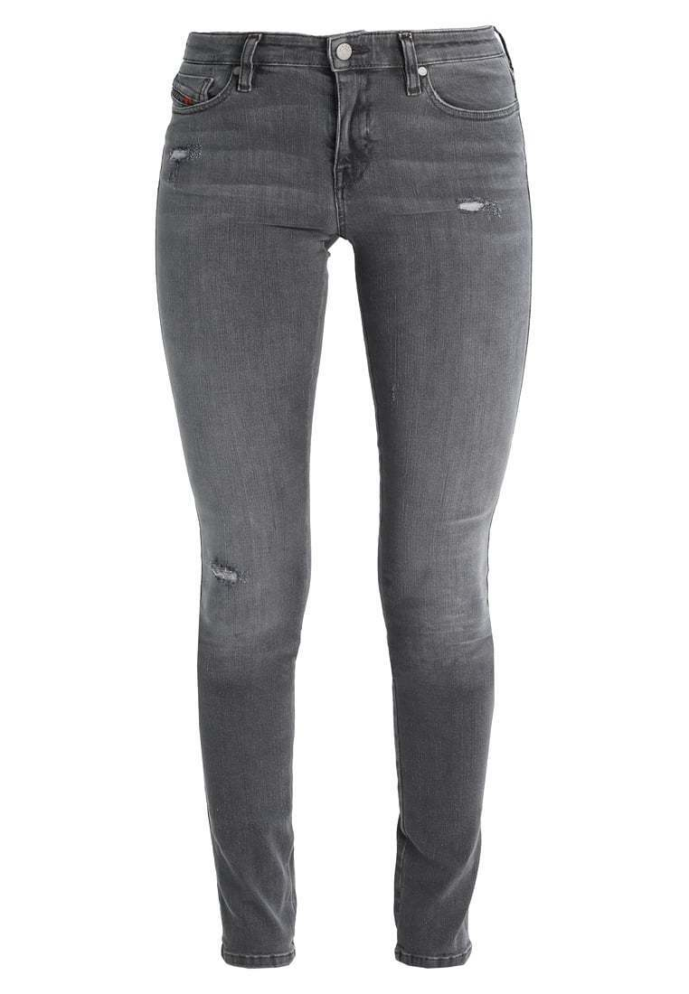 W32 diesel donna skinzee Jeans Skinny Fit Pantaloni Denim Grigio Nuovo a4190