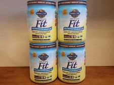 Lot of (4) Garden of Life Raw Fit Chocolate 16.3oz  Vegan Protein Burns Fat