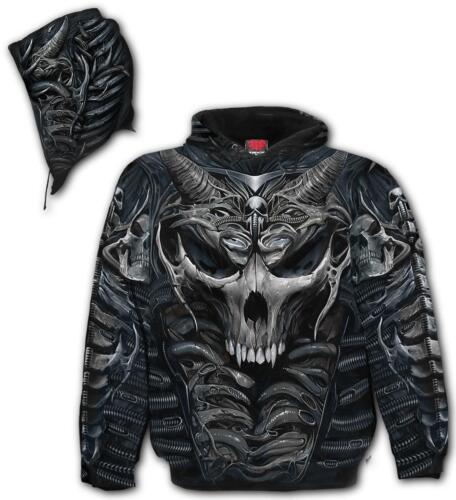 Spiral Direct SKULL ARMOUR Hooded,Skeleton//Skulls//Biker//Dark Wear//Pullover//Hood