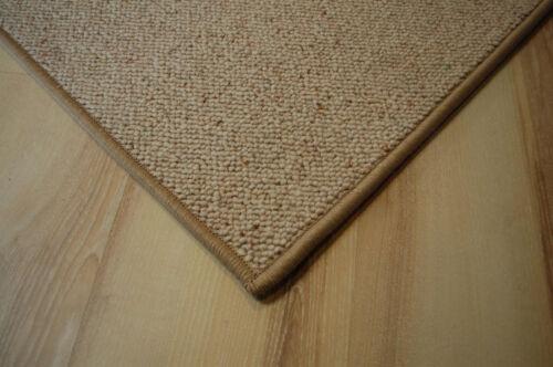 Schurwolle Teppich umkettelt beige 200 x 230 cm 100/% Wolle gekettelt