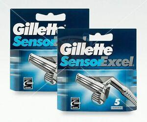 Gillette-Sensor-Excel-Rasierklingen-10-Stueck-Original-Ersatzklingen-OVP