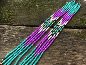 Extra-long-earrings-Long-Seed-Bead-Earrings-Fringe-Earrings-Beaded-Shoulder