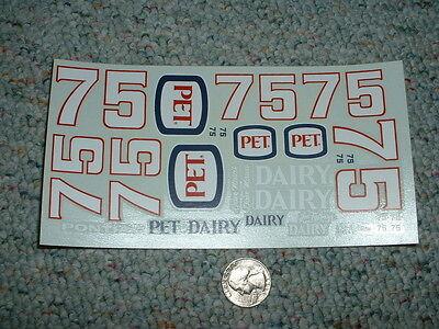 JNJ Hobbies 1//24 25  Decals #75 Pet Dairy Pontiac  Dave  QQ