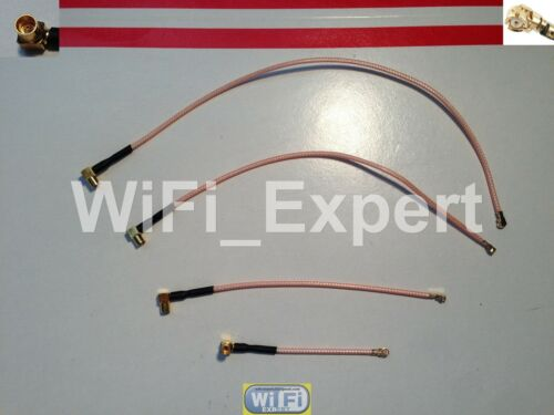 """2-8/"""" RG178 MMCX Female Right Angle U.FL IPX Pigtail Cable WIFI Wireless LOW LOSS"""