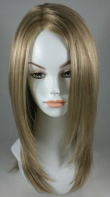 Great Service! Long Blond Straight Wig w/ Monofilament parting - 100% Kanekalon
