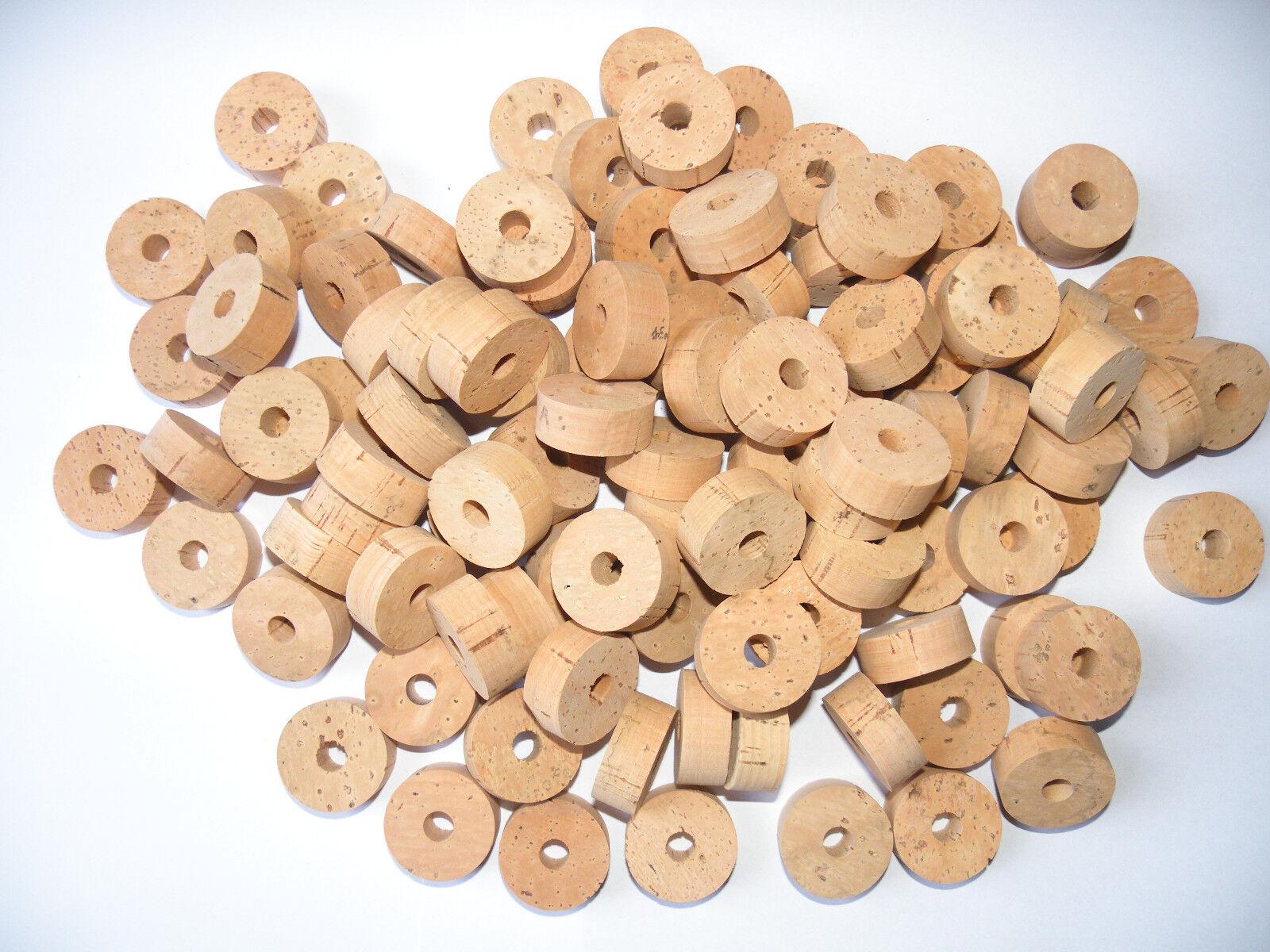 100 Anillos de corcho de grado extra de diámetro de 11 4 X1 2  5 16  (8 mm) -  envío Gratis