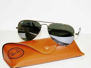 RAY-BAN-sunglasses-3025-Rayban-3275-55-SILVER-MIRROR-AVIATORS-Free-s-h