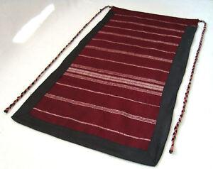 Vintage Traditional Balkans Ethnic folk Woolen Hand-woven apron or cloth