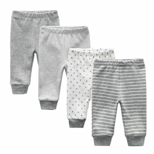4Pcs//lot Newborn Baby Boys Girls Pants Trousers 100/% Cotton Newborn Baby Clothes