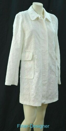 Lace Long Moda Donna Nuovo Light Us Coat Union 12 Trench Xl Button Bianco Jacket F8X6qw8