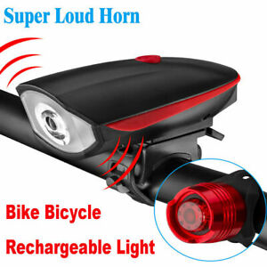 USB-Rechargeable-LED-Bicycle-Headlight-Bike-Head-Light-Front-Lamp-Cycling-Horn