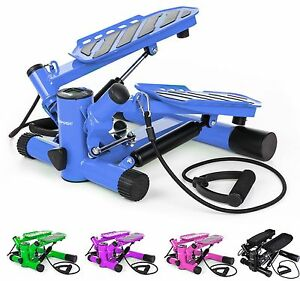 Hop-Sport-Mini-Swing-Side-Stepper-Widerstand-inkl-Trainingsbaender-Computer