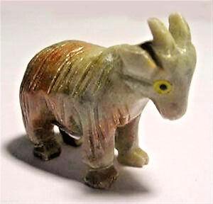 Peruvian Soapstone Goat Carving Figurine (1)
