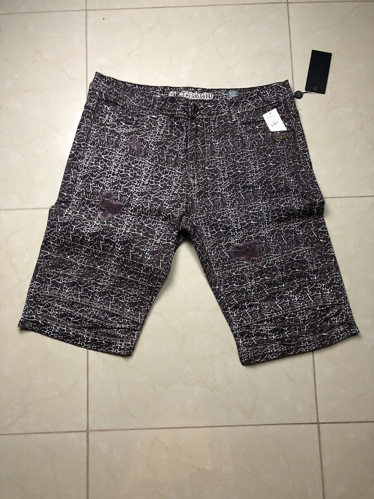 Atiziano Brown Bark Shorts Size 44
