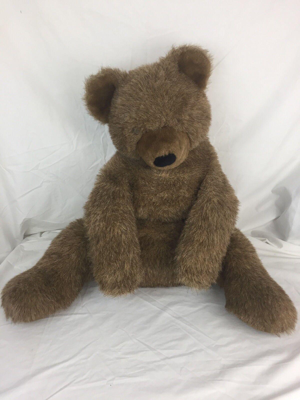 "Vintage Gund Teddy Bear Collectors Classic Marronee Large Plush Stuffed 25"" Sitting"